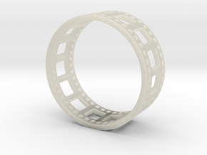 Movie Reel Ring double-size prototype in Transparent Acrylic