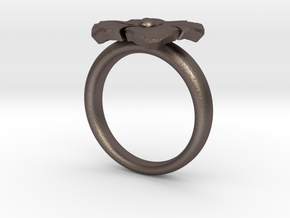 ring flower s44 in Stainless Steel