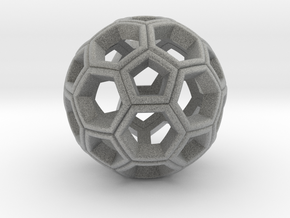 Soccer Ball Pendant in Metallic Plastic