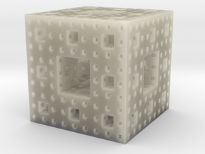 Menger Sponge (level-3) in Transparent Acrylic