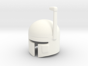 SciFi Helmet (tbn) in White Strong & Flexible Polished