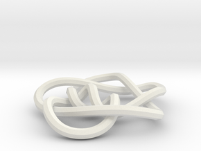 small 8-5 mobius knot in White Strong & Flexible