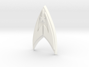 Fleet Badge in White Strong & Flexible Polished