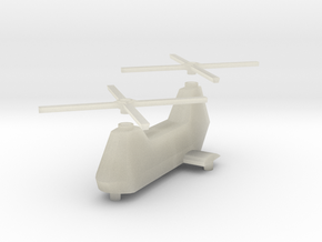 Twin-turbine helicopter in Transparent Acrylic