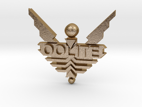 Oolite Pin (one inch) in Polished Gold Steel