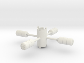 B.Y.O.S.S. 4 cylinders horzontal in White Strong & Flexible