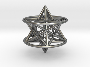 3d pentagram star in Polished Silver