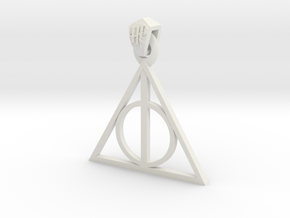 Deathly Hallows Pendant in White Strong & Flexible