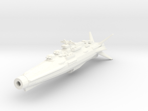Earth Defence Fleet Cruiser Horatius Class in White Strong & Flexible Polished