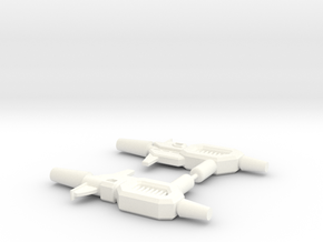 Kup Pistols (pair) in White Strong & Flexible Polished
