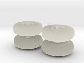 Laffly S20 small wheels in Transparent Acrylic