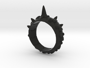 Armor Ring 01(with long spike) in Black Strong & Flexible