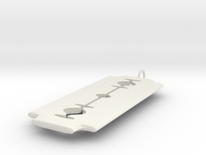 RazorBlade Pendant in White Strong & Flexible
