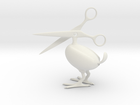 Scissor Bird in White Strong & Flexible