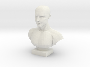 Bust of a Man in White Strong & Flexible