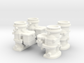 1/8 Stromberg 2 BBL Carburetor in White Strong & Flexible Polished