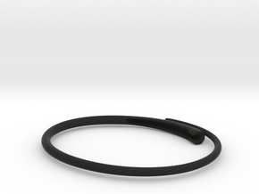 Snap bangle. in Black Strong & Flexible
