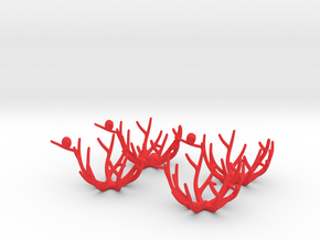 birdsnest eggcup quattro in Red Strong & Flexible Polished