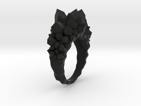 Crystal Ring Size 8 in Black Strong & Flexible