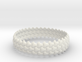 Trefoil Bangle in White Strong & Flexible