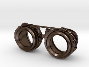 Steampunk Goggles in Polished Bronze Steel