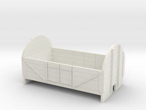 OO9 4 plank open wagon with high ends in White Strong & Flexible