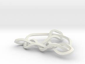 3D Trinity Knot in White Strong & Flexible