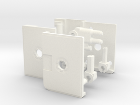Tapebot Heavy Blaster in White Strong & Flexible Polished