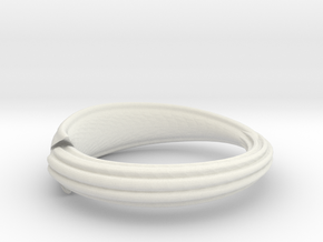 Squid ring in White Strong & Flexible