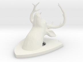 deer-on-plaque in White Strong & Flexible