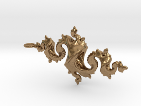 Dragon Pendant 6cm in Raw Brass