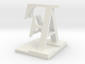 Two way letter / initial A&F in White Strong & Flexible