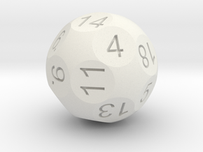 D20 Sphere Dice in White Strong & Flexible
