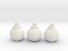 Bombs (3 Pack) in White Strong & Flexible