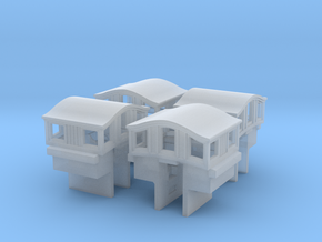 A36 Narrow Bombay roof caboose cupola, MDC w/Int in Frosted Ultra Detail