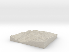 Model of Council Bluff in Sandstone