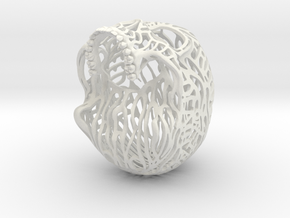 Skull Filagree - Liberty 6.5cm - Top in White Strong & Flexible