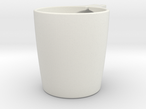 Tea bag cup in White Strong & Flexible