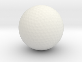 Golf Ball in White Strong & Flexible