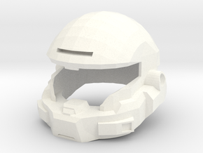 Mark V-B Helmet in White Strong & Flexible Polished