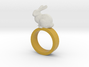 Bunny Ring in Full Color Sandstone