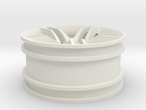1:10 RC Car rim in White Strong & Flexible
