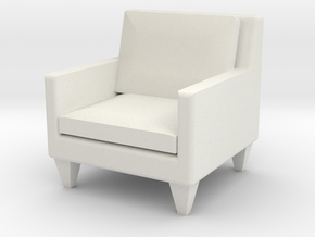 1:24 Contemporary Club Chair in White Strong & Flexible