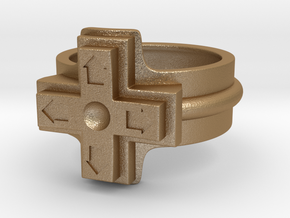 Ring of the gamer in Matte Gold Steel