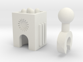 Sunlink - 3mm: Missile Pod in White Strong & Flexible