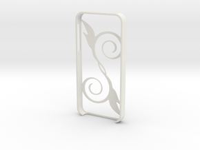 IPhone5 Leaf in White Strong & Flexible