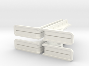 Structural Wall Brace 1 (x4) in White Strong & Flexible Polished