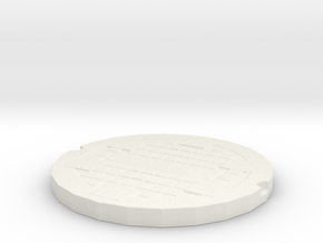 manhole cover in White Strong & Flexible