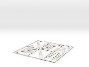 Picture Frame (Single Right) in White Strong & Flexible