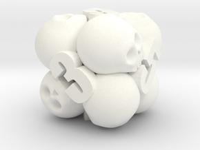Ossuary d6 in White Strong & Flexible Polished